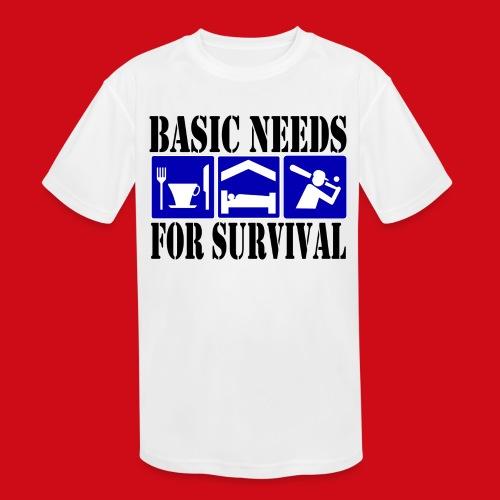 Softball/Baseball Basic Needs - Kids' Moisture Wicking Performance T-Shirt