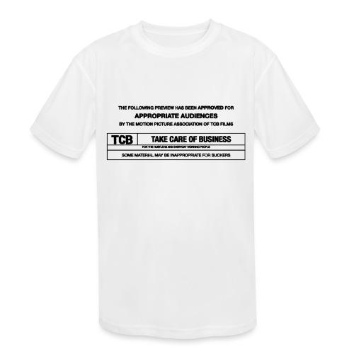 TCB Films Disclamer - Kids' Moisture Wicking Performance T-Shirt