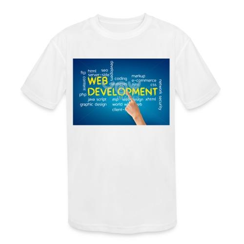 web development design - Kids' Moisture Wicking Performance T-Shirt