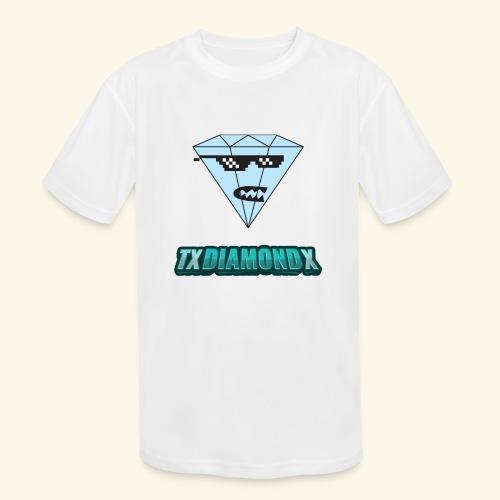 Txdiamondx Diamond Guy Logo - Kids' Moisture Wicking Performance T-Shirt