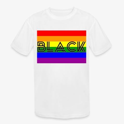 Black LGBTQ - Kids' Moisture Wicking Performance T-Shirt