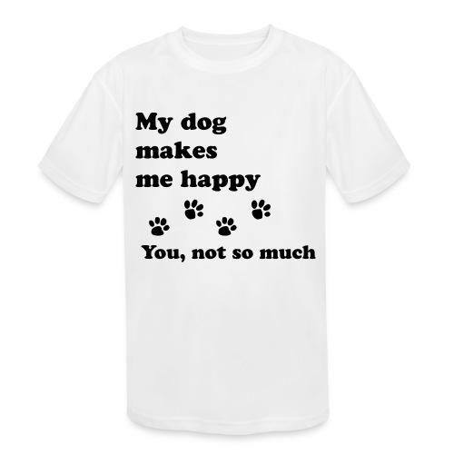 love dog 2 - Kids' Moisture Wicking Performance T-Shirt
