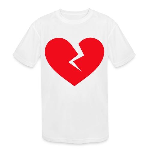 Broken Heart - Kids' Moisture Wicking Performance T-Shirt