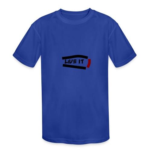 Live It - Kids' Moisture Wicking Performance T-Shirt