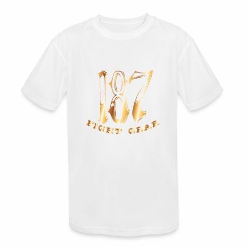 187 Fight Gear Gold Logo Sports Gear - Kids' Moisture Wicking Performance T-Shirt