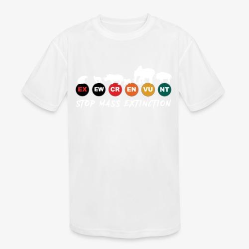 Stop mass extinction ! - Kids' Moisture Wicking Performance T-Shirt