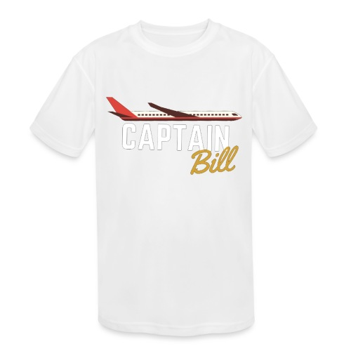 Captain Bill Avaition products - Kids' Moisture Wicking Performance T-Shirt