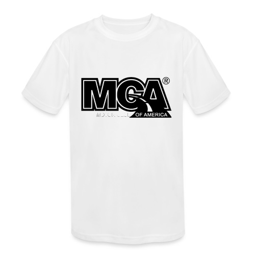 MCA Logo WBG Transparent BLACK TITLEfw fw png - Kids' Moisture Wicking Performance T-Shirt