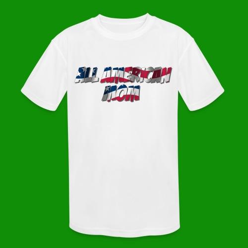 ALL AMERICAN MOM - Kids' Moisture Wicking Performance T-Shirt