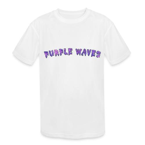 Purple Waves - Kids' Moisture Wicking Performance T-Shirt