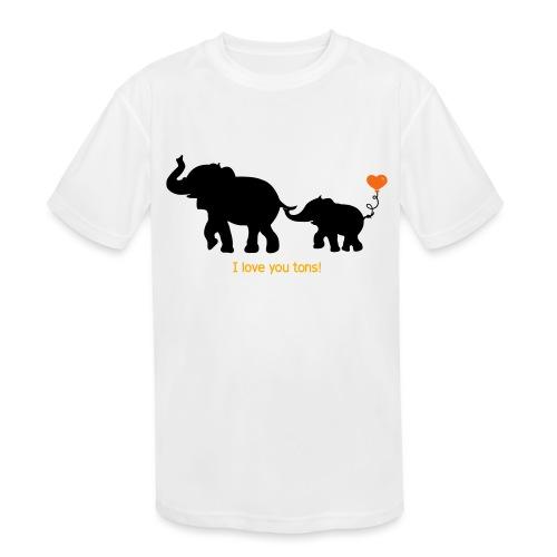 I Love You Tons! - Kids' Moisture Wicking Performance T-Shirt