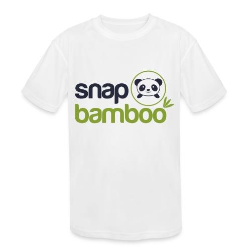 Snap Bamboo Square Logo Branded - Kids' Moisture Wicking Performance T-Shirt