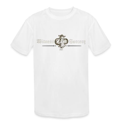 Witness True Sorcery Logo - Kids' Moisture Wicking Performance T-Shirt