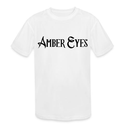 AMBER EYES LOGO IN BLACK - Kids' Moisture Wicking Performance T-Shirt