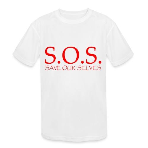sos no emotion red - Kids' Moisture Wicking Performance T-Shirt