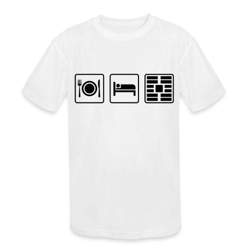 Eat Sleep Urb big fork - Kids' Moisture Wicking Performance T-Shirt