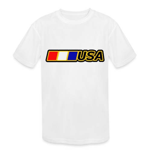 USA - Kids' Moisture Wicking Performance T-Shirt