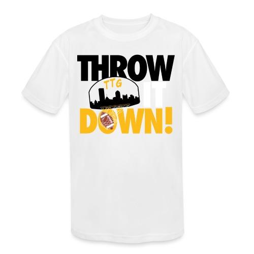 Throw it Down! (Turnover Dunk) - Kids' Moisture Wicking Performance T-Shirt