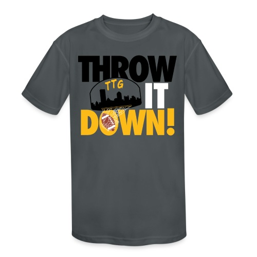 Throw it Down! (Turnover Dunk) - Kids' Moisture Wicking Performance T-Shirt