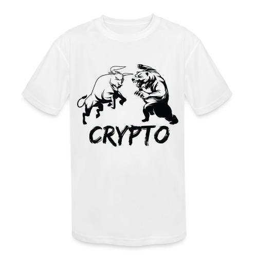 CryptoBattle Black - Kids' Moisture Wicking Performance T-Shirt