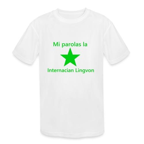 I speak the international language - Kids' Moisture Wicking Performance T-Shirt