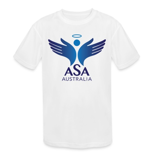 3459 Angelman Logo AUSTRALIA FA CMYK - Kids' Moisture Wicking Performance T-Shirt