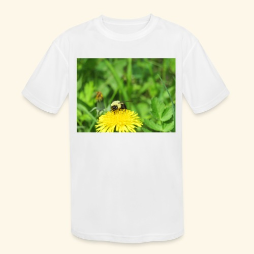 Dandelion Bee - Kids' Moisture Wicking Performance T-Shirt