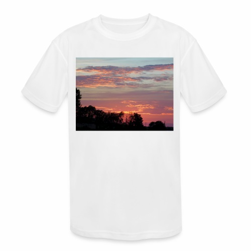 Sunset of Pastels - Kids' Moisture Wicking Performance T-Shirt