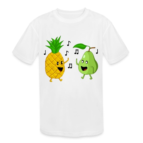Dancing Pineapple and Pear - Kids' Moisture Wicking Performance T-Shirt