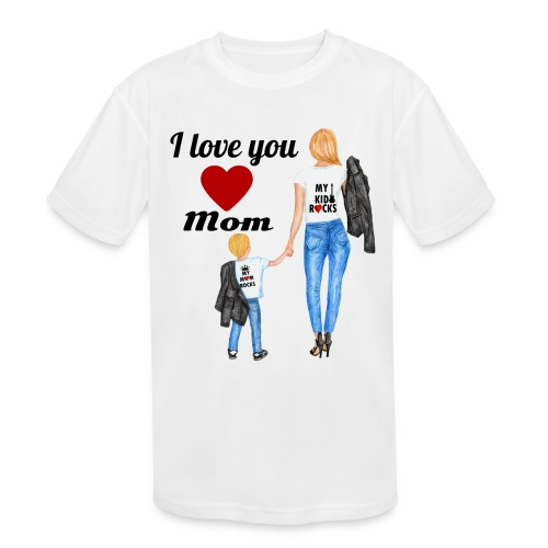 Mother's day gift from daughter, Mother's Day Gift - Kids' Moisture Wicking Performance T-Shirt