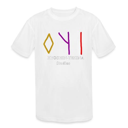 Kyoshin-Tekina Studios logo (white text) - Kids' Moisture Wicking Performance T-Shirt