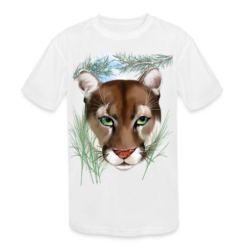 Midnight Puma - Kids' Moisture Wicking Performance T-Shirt