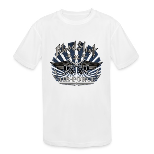 BloodShot Air Force with black - Kids' Moisture Wicking Performance T-Shirt