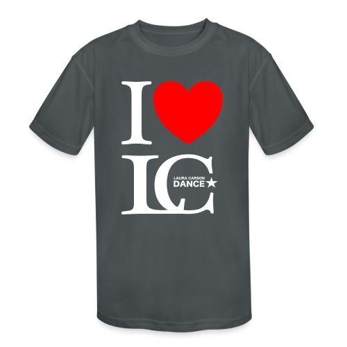 I Heart LCDance - Kids' Moisture Wicking Performance T-Shirt