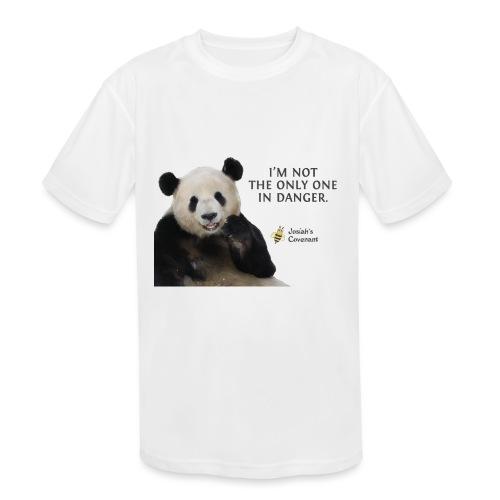 Endangered Pandas - Josiah's Covenant - Kids' Moisture Wicking Performance T-Shirt