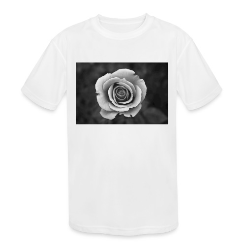 dark rose - Kids' Moisture Wicking Performance T-Shirt