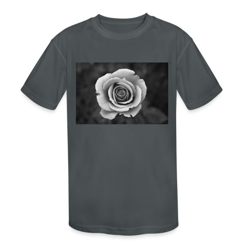 dark rose - Kids' Moisture Wicking Performance T-Shirt
