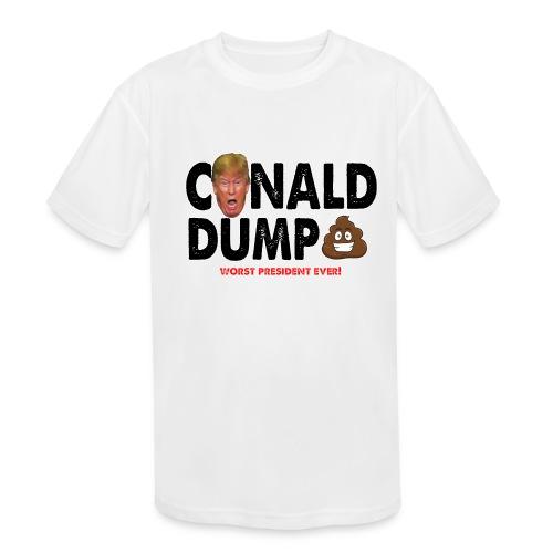 Conald Dump Worst President Ever - Kids' Moisture Wicking Performance T-Shirt