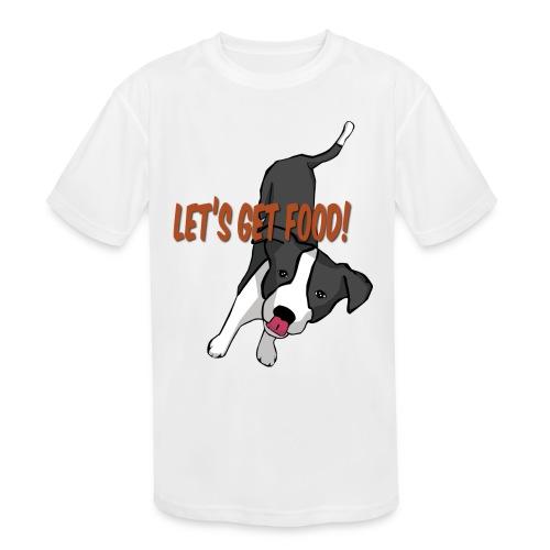 Foodie Dog Border Collie - Kids' Moisture Wicking Performance T-Shirt
