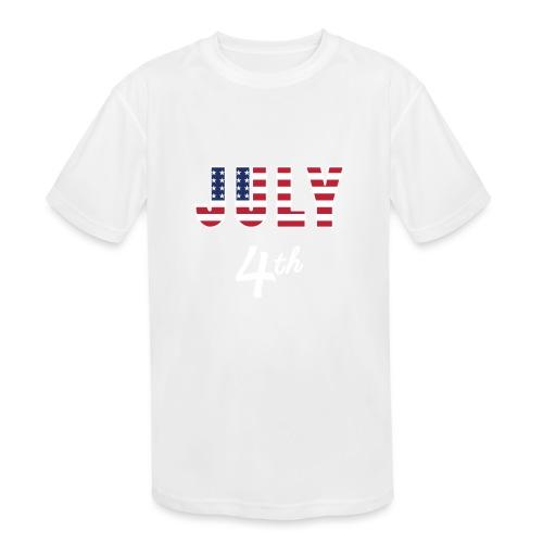 July 4th - Kids' Moisture Wicking Performance T-Shirt