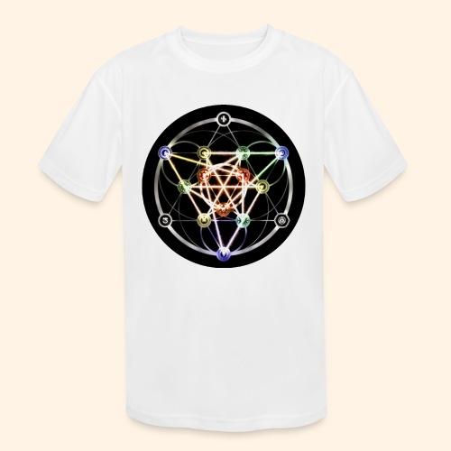 Classic Alchemical Cycle - Kids' Moisture Wicking Performance T-Shirt