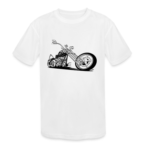 Custom American Chopper Motorcycle - Kids' Moisture Wicking Performance T-Shirt