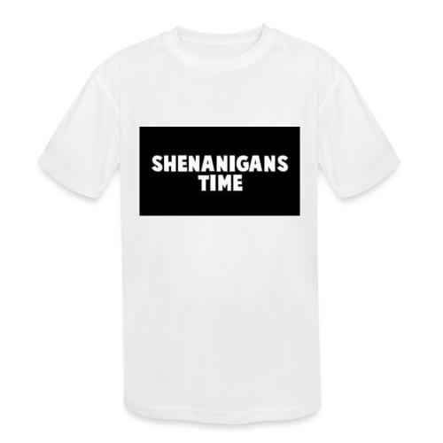 SHENANIGANS TIME MERCH - Kids' Moisture Wicking Performance T-Shirt