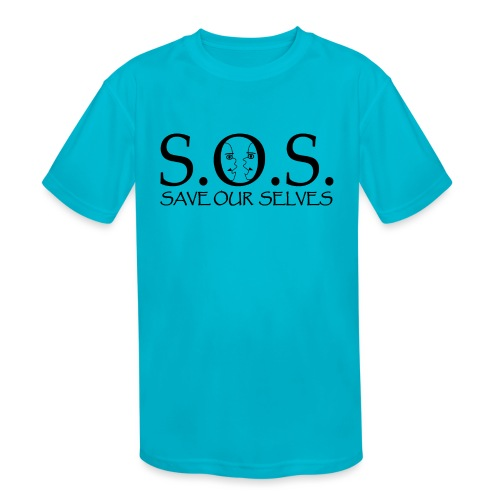 SOS Black on Black - Kids' Moisture Wicking Performance T-Shirt