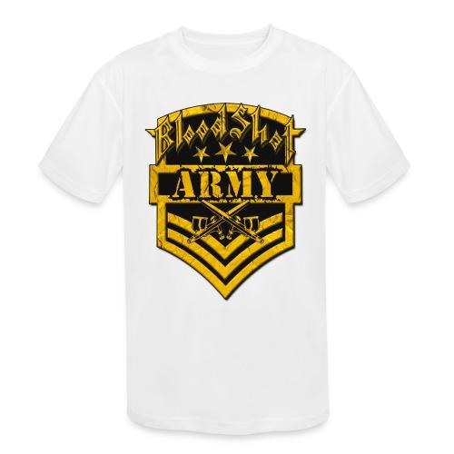 BloodShot ARMYLogo Gold /Black - Kids' Moisture Wicking Performance T-Shirt