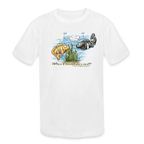 when clownfishes meet - Kids' Moisture Wicking Performance T-Shirt