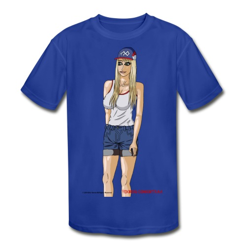 Gina Character Design - Kids' Moisture Wicking Performance T-Shirt