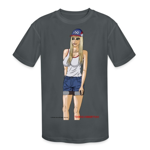 Gina Character Design - Kids' Moisture Wicking Performance T-Shirt