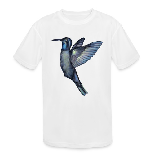 Hummingbird in flight - Kids' Moisture Wicking Performance T-Shirt