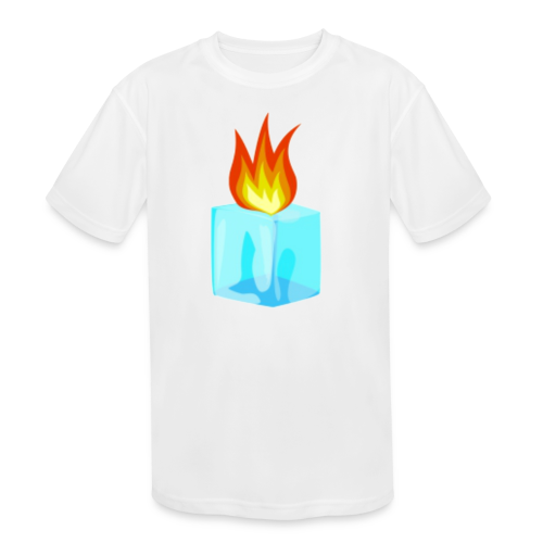 PZKTastic Logo T-Shirt (Get White as the Color) - Kid's Moisture Wicking Performance T-Shirt